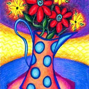 Art: Polka Dot Pitcher by Artist Christine Wasankari