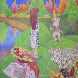 Art: The White Rabbit by Artist Rob Robie