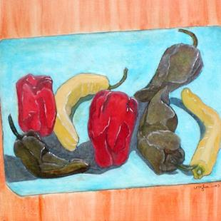 Art: Peppers on Death Row by Artist Victor McGhee