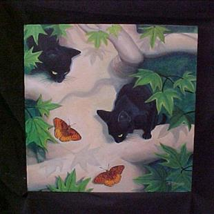 Art: Chasing Butterflies by Artist Rosemary Margaret Daunis