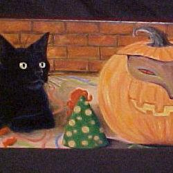 Art: Freaky Halloween by Artist Rosemary Margaret Daunis