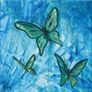 Art: Butterfly Trio by Artist Padgett Mason