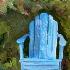 Art: Favorite spot in the Garden by Artist Deborah Sprague