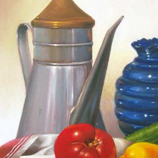 Art: Still Life with Tomato by Artist Lauren Cole Abrams
