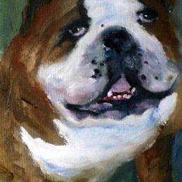 Art: For the Love of Bulldogs by Artist Deborah Sprague
