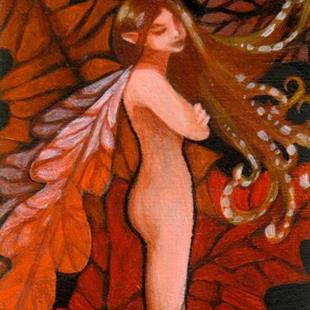 Art: Autumn Oak Fairy ACEO by Artist Carmen Medlin