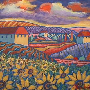 Art: Country Sunflowers by Artist Virginia Kilpatrick