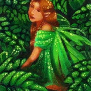 Art: Green Dream ACEO by Artist Carmen Medlin