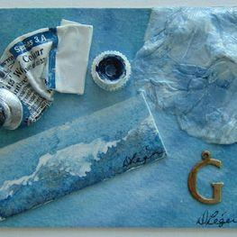 Art: Waves and Tools by Artist Deborah Leger