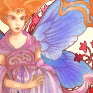 Art: Flame Goddess ACEO by Artist Carmen Medlin