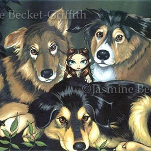 Art: Pixie Dogs by Artist Jasmine Ann Becket-Griffith