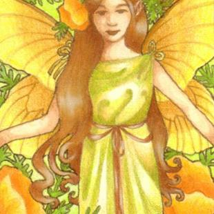 Art: Golden Poppies ACEO by Artist Carmen Medlin
