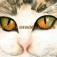 Art: Moose the Cat by Artist Deborah Leger