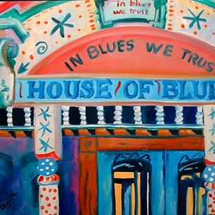 Art: NEW ORLEANS HOUSE OF BLUES by Artist Marcia Baldwin