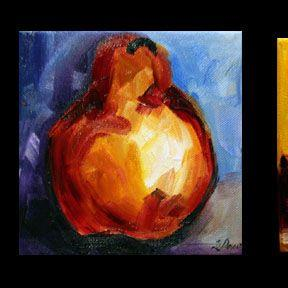 Art: LITTLE PEARS ONE group of 3 by Artist Laurie Justus Pace