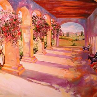 Art: TUSCANY ARCHES by Artist Marcia Baldwin
