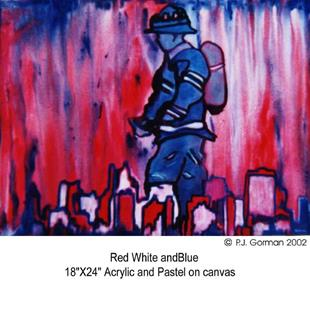 Art: Red White and Blue by Artist PJ Gorman