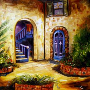 Art: Bonnie's Courtyard New Orleans by Artist Laurie Justus Pace