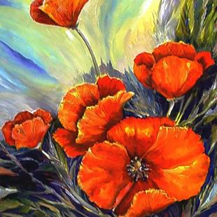 Art: Wild Poppies by Artist Diane Millsap