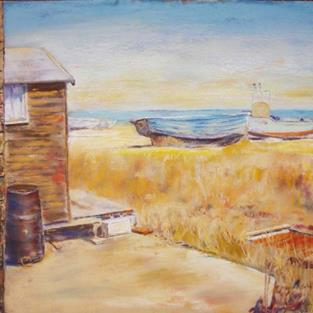 Art: Aldeburgh Beach by Artist John Wright