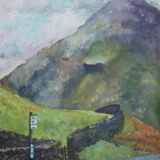 Art: Bus Stop (Lake District) by Artist John Wright