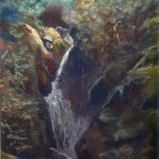 Art: Aira Force (Lake District) by Artist John Wright