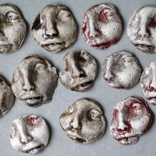 Art: Face Shard tiles by Artist Deborah Sprague