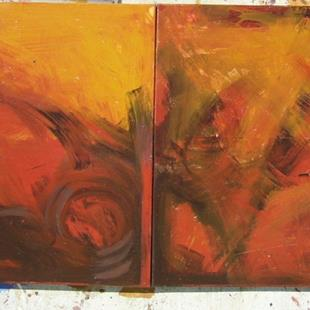 Art: ABSTRACT HUGE DIPTYCH by Artist Eridanus Sellen