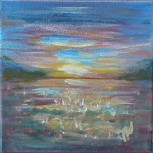 Art: Sunrise on The St.Johns SOLD by Artist Terri L West