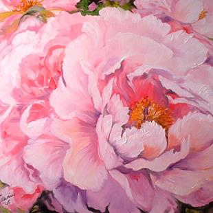 Art: THE PINK PEONY by Artist Marcia Baldwin