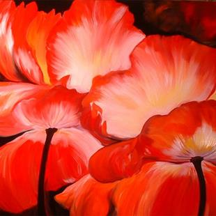 Art: THE RED POPPIES by Artist Marcia Baldwin