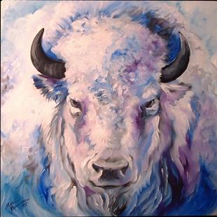 Art: WHITE BUFFALO by Artist Marcia Baldwin