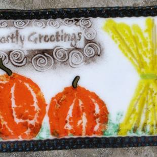 Art: Ghostly greetings welcome sign by Artist Deborah Sprague