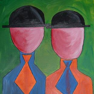 Art: Faceless Bureaucrats by Artist Julie Hollis