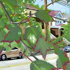 Art: Tiny Urban Landscape by Artist Cary Dunlap Daly