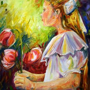 Art: In Her Father's Garden by Artist Laurie Justus Pace