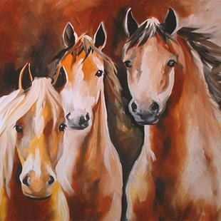 Art: MUSTANGS by Artist Marcia Baldwin