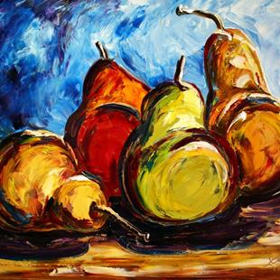 Art: Pears for Fall by Artist Laurie Justus Pace