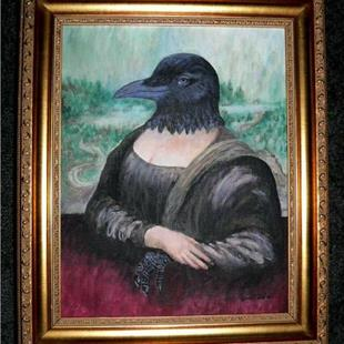 Art: Crow-na Lisa by Artist Sara Field