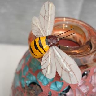 Art: Tear Vase with Bee (available) by Artist Dorothy Edwards