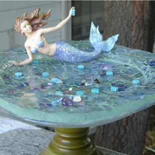 Art: Mermaid on a Plate  (sold) by Artist Dorothy Edwards