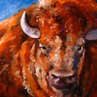 Art: BUFFALO III by Artist Marcia Baldwin
