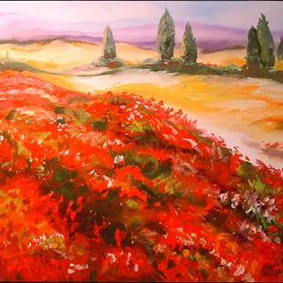 Art: TUSCANY AND POPPIES by Artist Marcia Baldwin