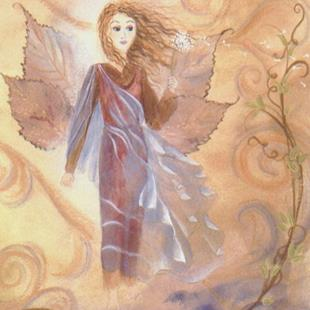 Art: Wind Fairy    by Artist Cynthia Schmidt