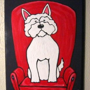 Art: Westie of the Red Chair by Artist Melinda Dalke