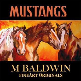 Art: MUSTANGS IV by Artist Marcia Baldwin