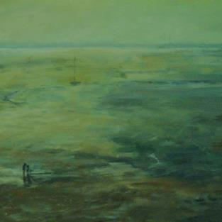 Art: Low Tide (Leigh-on-Sea,Essex) by Artist John Wright