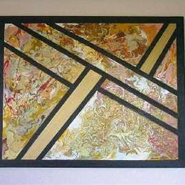 Art: GOLDEN HEART (SOLD) by Artist Dawn Hough Sebaugh