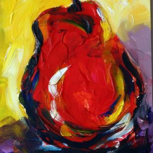 Art: Red Pear by Artist Laurie Justus Pace