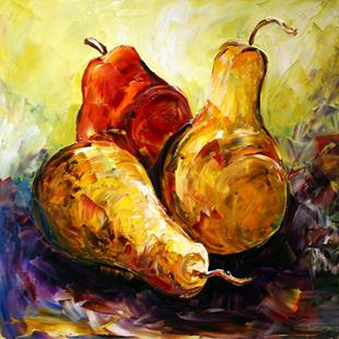 Art: Holiday Pears Three by Artist Laurie Justus Pace
